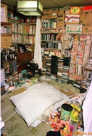 Комната Миядзаки 12 августа 1989 года